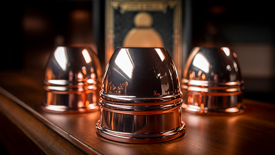 LEGEND Cups and Balls (Copper/Polished) by Murphy's Magic