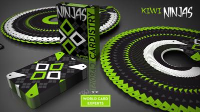 Cardistry Kiwi Ninjas (Green) Playing Cards