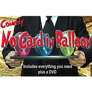 Comedy no card in balloon