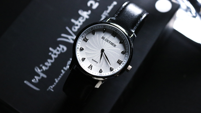 Infinity Watch V2 Silver Case White Dial by Bluether Magic