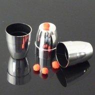 Cups & balls silver plastic