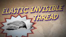 Invisible elastic thread spool